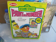 Sesame Street vintage Paint By Number set NEW IN BOX Avalon