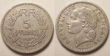 5 Francs Lavrillier eu aluminium 1946 C, TTB, Assez rare !!