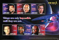 Gambia 2016 MNH Star Trek 50th The Next Generation 6v M/S II Riker Picard Stamps