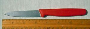 "Victorinox 3"" Paring Knife Red Fibrox Handle Good Condition"