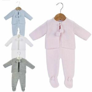 Gorgeous baby boys,girls and unisex spanish knitted pom pom dandelion suit set