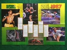 (FM13) POSTER CALENDARIO 1987 TYSON BECKER BRUNAMONTI 80x55 Guerin Sportivo