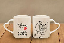 "Englische Bulldogge - ein Becher ""Good Morning and love, heart"" Subli Dog, CH"