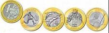 Brasile set 4 monete da 1 real 2014  FDC  Olimpiadi 2016 prima   serie