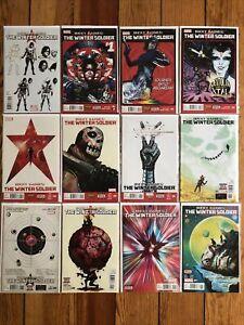 Bucky Barnes Winter Soldier 2014 Comics 1 2 3 4 5 6 7 8 9 10 11 + Design Variant