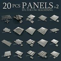 20 pcs set #2 Panels 3d stl models for CNC Router Artcam Aspire
