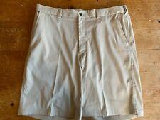 Pebble Beach Performance Shorts Size 36 Golf Khaki Shorts Pockets B35