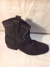 Unique Chaussures Noir Cheville Bottes en cuir taille 39