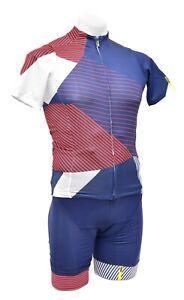 Mavic Allure LTD Short Sleeve Cycling Kit Men SMALL Blue Road Bike Race Mountain