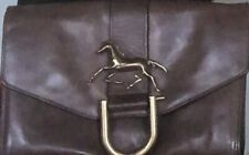 *CHLOE* Authentic Leather Clutch, Iconic Horse Hardware, Made In Italy