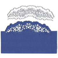 Card lace decor Metal Cutting Dies for DIY Scrapbooking Album Embossing Craft QZ