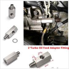 Oil Pressure Sensor Tee 1/8''NPT to NPT Adapter Turbo Supply Feed Line Gauge M10