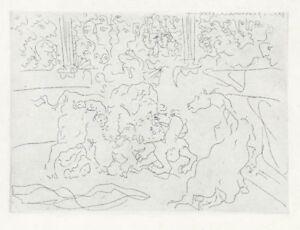 Pablo Picasso - Taureau et Chevaux dans l'Arène - Original Etching