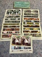 Lot of Assorted Antique Stereoviews Including Native Americans & Some Rude Views