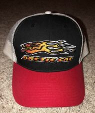 Vtg ARCTIC CAT Snapback Hat NOS Snowmobile ATV Black Red White Baseball