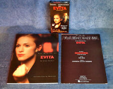 MADONNA RELATED -MAKING OF EVITA PAPERBACK, SHEET MUSIC, VHS TAPE - (3) ITEM LOT