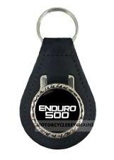 YAMAHA XT500 XT 500  real leather motorcycle keyring keychain