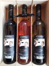 Coffret De 3 Bouteilles De Vin Rouge Rosé Blanc Découvert Par Johnny Hallyday