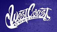 sticker autocollant west coast custom choppers croix de malt custom bobber decal