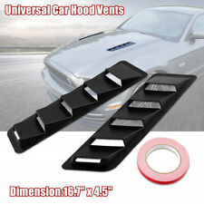 "2PCS 16.7""x4.5"" Car Universal Matte Black Hood Vent Louver Cooling Panel Black"