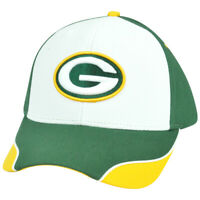 NFL Green Bay Packers Logo Adjustable Curved Constructed Hat Cap XZ508