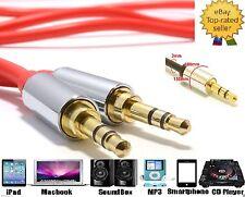 1.5M 3.5mm AUX Cable Mini Jack to Jack Male Audio Auxiliary Lead PC Car Speaker
