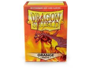 Matte Orange 100 ct Dragon Shield Sleeves Standard Size FREE SHIPPING 10% OFF 2+