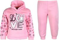 Girls Jogging Suits Tracksuit 2 Piece Set Hoodie Top & Joggers 9 Months - 6 Yrs
