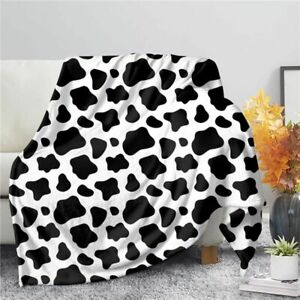Cow Print Soft Microfiber 4 Sizes Kid Adults Blanket for Baby Seat,Couch,Sofa_