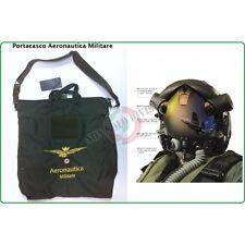 Sacca Zaino Borsa Porta Casco con Ricamo Aeronautica Militare Italiana Verde
