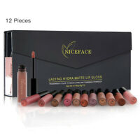 12color/set Long Lasting Liquid Lipstick Velvet Matte Lip Gloss Makeup Cosmetic