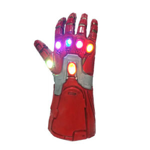 Kids Avengers Thanos Glove Cosplay Costume Gauntlet Toy with LED
