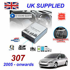 For Peugeot 307 MP3 SD USB CD AUX Input Audio Adapter CD Changer Module RD4