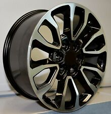 "4) 20"" Ford Raptor Replica Wheels Rims Set Fits 2005 - Up F150 Machined Black"