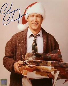 CHEVY CHASE Autographed Christmas Vacation Griswold 8x10 Color Photo with COA