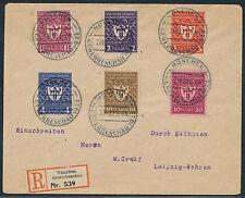Dt. Reich Gewerbeschau 1922 Satzbrief Einschreiben Express Leipzig (S12745)