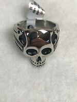Stahl Men's Biker Skull with Wings Ring Stainless Steel Sizes 9-14 NEW