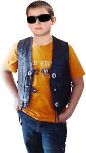 Kinder Lederweste Sheepy Kid Kinderweste Bikerweste Kutte Weste Leder