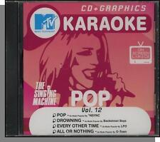 Karaoke CD+G - MTV Pop Hits Vol 12 - New Singing Machine CD! All or Nothing
