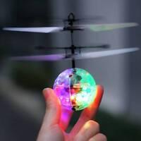 Infrarot Induktion Fliegen Disco Bunte LED Ball Hubschrauber Spielzeug