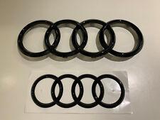 """Audi Emblem """"Ringe"""" schwarz glänzend A1,A3,A4,A5,A6, vorne + hinten"""