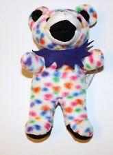 Grateful Dead Peggy-O White Polka Dots Teddy Bear Bean Bag Plush Stuffed Animal