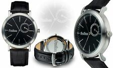 NEW Omikron 1001M Mens Marauder Collection Chronograph Black/silver Dressy Watch