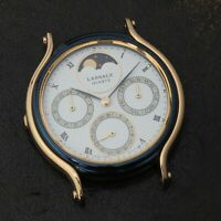 NOS Lassale Gnts 7F68-6139 Triple Date MOON PHASE Complication Sample Watch