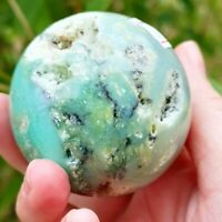 STUNNING CHRYSOPRASE POLISHED SPHERE FROM INDONESIA.  HEALING CRYSTAL