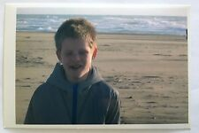 Vintage PHOTO Of A Boy With His Eyes Closed On The Beach In San Francisco Cali