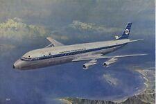 Postcard 1276 - Aircraft/Aviation KLM Douglas DC-8 Intercontinental Jet