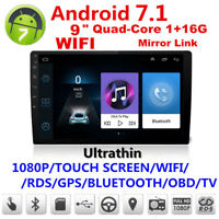"Ultra thin 2DIN 9"" 1+16G Android 7.1 Car Stereo Radio Touch screen"