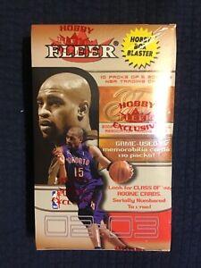 2002-03 Fleer Flair Hobby Blaster Box 10 packs