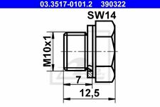 ATE Verschlussschraube Hauptbremszylinder 03.3517-0101.2 für POLO VW M10x1 GOLF